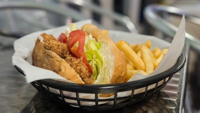 A view of the Soft Shell Crab Po' Boy at Drum Point Market on Smith Island on Wednesday, July 12, 2017.