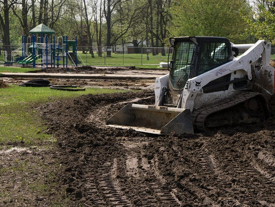 Rotary Park's playscape is getting a makeover thanks
