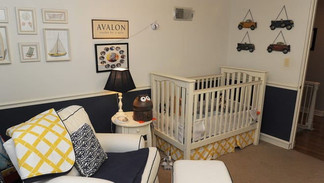 A nursery decorated by Michael McLoone.