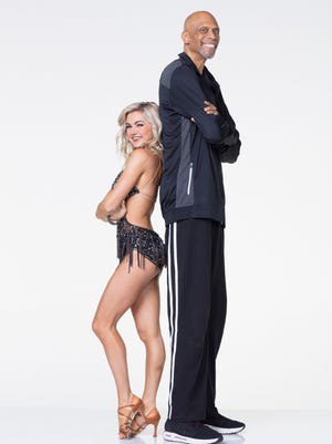 Kareem Abdul-Jabbar is more than a foot and a half taller than his partner, Lindsay Arnold, but he'll be competing on 'Dancing With the Stars.'