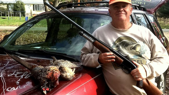 I bagged another brace of pheasants Saturday in Bradford County, Pa.