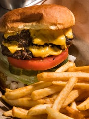 Classic old tavern cheeseburgers, crisp around the