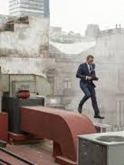 Bond looks debonair while making an escape, as per usual.