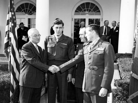 President Harry Truman during a  White House ceremony on November 24, 1952