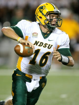 Aug 30, 2013; Manhattan, KS, USA; North Dakota State quarterback Brock Jensen and his teammates will be the center of attention when ESPN's College GameDay comes to town.