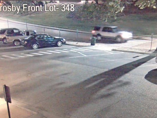 This is a surveillance image of the suspected vehicle