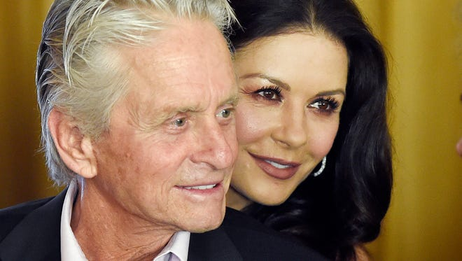 Catherine Zeta-Jones said that her husband, who has denied allegations of sexual harassment, is a strong supporter of the #MeToo movement.