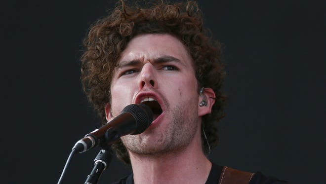 Apr 15, 2018; Indio, CA, USA; Vance Joy performs at the Coachella Valley Music and Arts Festival at Empire Polo Club. Mandatory Credit: Jay Calderon/The Desert Sun via USA TODAY NETWORK