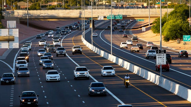 The 101 looking north from Chandler Blvd. area Wednesday, Oct. 22, 2014 in Chandler, Ariz.