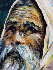 Quest for Wisdom by Roopali Kambo, a painter and graphic