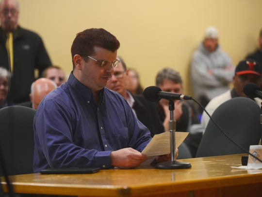 Andrew Corvin of the Vermont Furs urged Burlington councilors to enact the new mask ordinance at the City Council meeting on Monday evening.