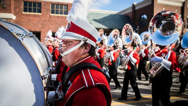 Hundreds of spectators gathered in downtown Muncie and on McKinley Avenue at Ball State for the university's Homecoming Parade in 2016.
