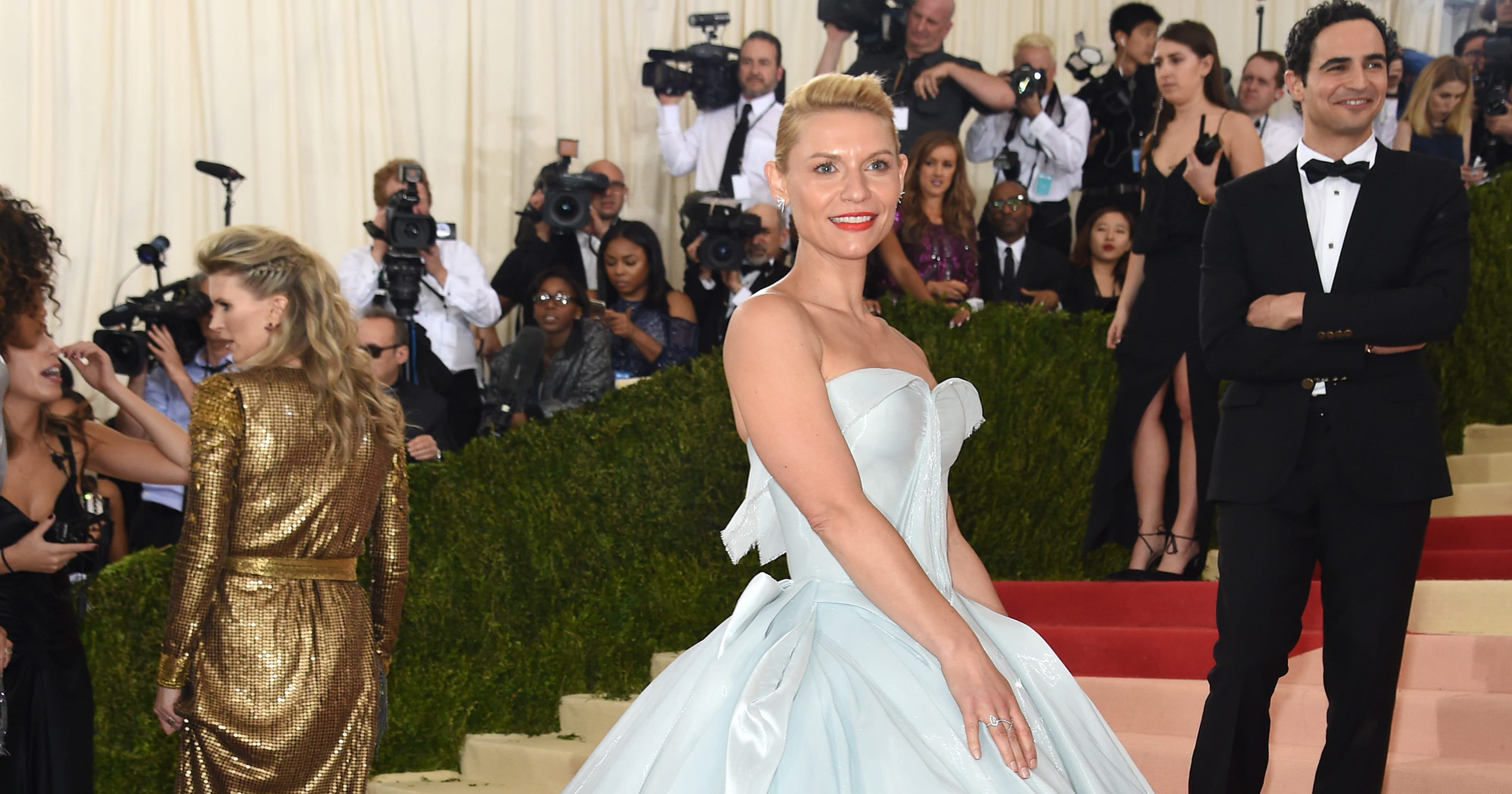 9ea3e9eb Marchesa, Zac Posen and Claire Danes light up the Met Gala red carpet