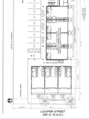 The proposed apartment development for 999 S. Cooper