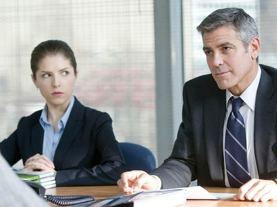 """Anna Kendrick and George Clooney appear in a scene from """"Up in the Air."""""""