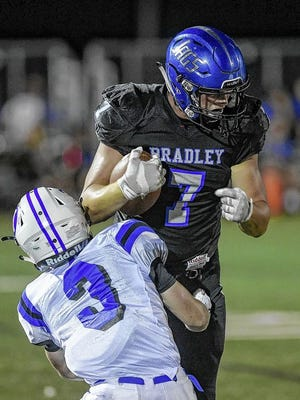 Senior Jack Pugh, a four-star recruit at tight end who has committed to Wisconsin, is among the top returnees for the Jaguars, who will open at Marysville on Friday, Aug. 28.