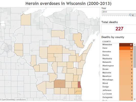Heroin overdoses in Wisconsin
