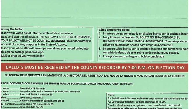 The new mint-green Maricopa County ballot envelope.