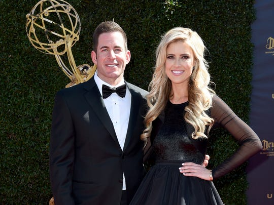 Former spouses Tarek El Moussa and Christina El Moussa at the Daytime Emmy Awards in 2017.