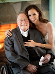 George H. W. Bush and Barbara Pierce Bush in Kennebunkport, Maine, on Oct. 7, 2018.
