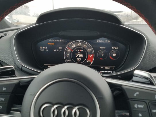 "Audi's innovative, 12.3-inch ""Virtual Cockpit"" display"