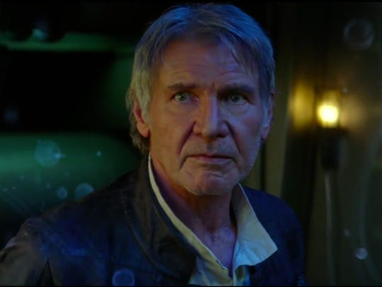 Harrison Ford's Han Solo seems to be the wise old man
