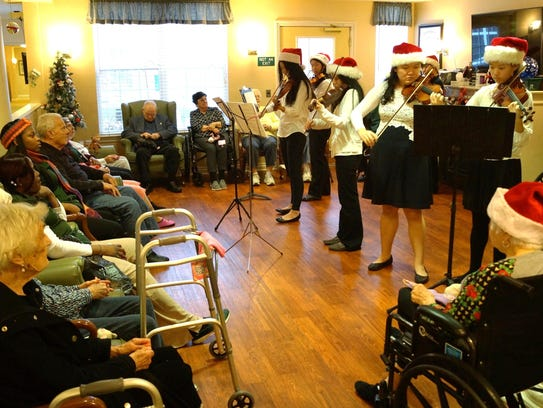 Little Stars perform a holiday concert at Waltonwood