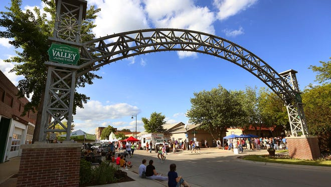 The Valley Junction Farmers Market takes place on 5th Street in West Des Moines every Thursday night.