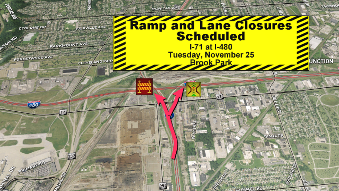 Traffic construction impacts i 90 i 71 and sr 297 for I 90 construction