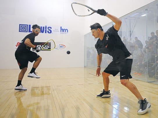 Kane Waselenchuk, right, takes on Jose Rojas in the