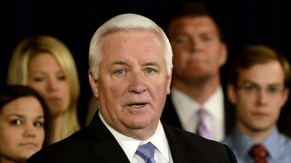 Pennsylvania Gov. Tom Corbett, a Republican, is up for re-election in 2014.