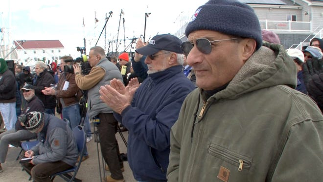 Fishermen gather during the rally behind Fisherman's Supply in Point Pleasant Beach Friday, January 27, 2017.  Fisherman are concerned by harvest cuts proposed by the federal government.