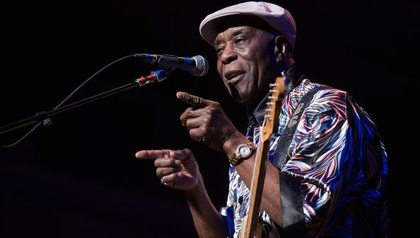 Buddy Guy performs in Nashville on February 29, 2016.