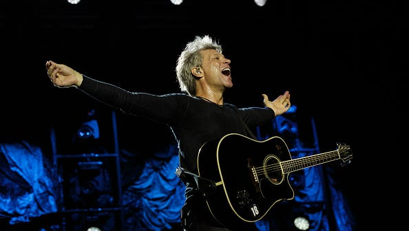 Jon Bon Jovi of Bon Jovi performs at Park HaYarkon in Tel Aviv, Israel, last year.