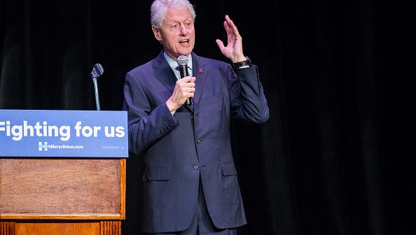 Former President Bill Clinton speaks in New Orleans on March 4, 2016.