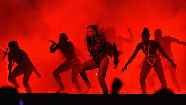 Beyonce performs onstage during the 2016 BET Awards at the Microsoft Theater.