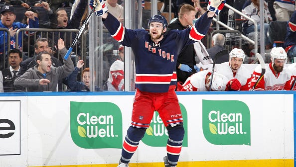 With injuries to defensemen Dan Girardi and Kevin Klein, Dylan McIlrath (above) got his first start of the season Monday.