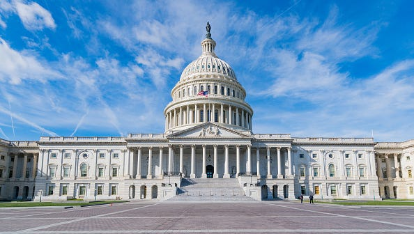 WASHINGTON D.C., DC - OCTOBER 31: General view of the United States Capitol on October 31, 2016 in Washington D.C., Washington D.C..  (Photo by AaronP/Bauer-Griffin/GC Images)