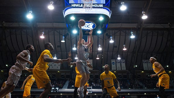Hinkle Fieldhouse, shown during a Butler-Norfolk State game last month, is one of the most famous arenas in basketball. The Cincinnati Bearcats visit Butler at Hinkle on Saturday.