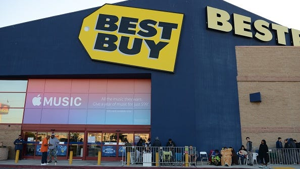 Best Buy stays open until 6 p.m. on Christmas Eve and opens at 9 a.m. the day after Christmas.