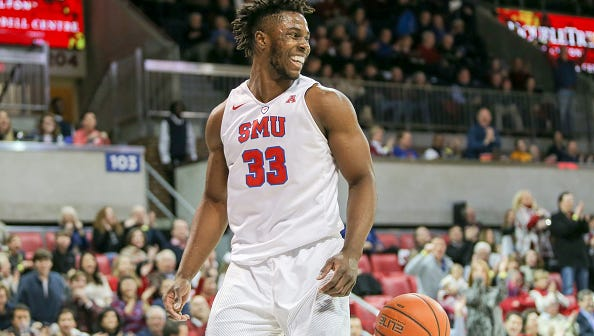 Duke transfer Semi Ojeleye (33)  will lead SMU against the Cincinnati Bearcats. Ojeleye averages 17.9 points and 7.7 rebounds per game.