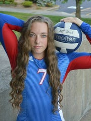 South Spencer volleyball player Shelby Sitzman