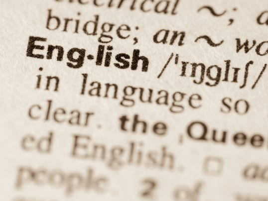 Dictionary definition of word English