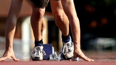 Track and Field Stock Photo.