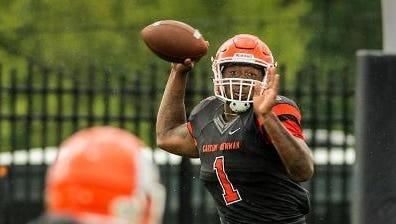 Roberson graduate Noah Suber is a senior quarterback at Carson-Newman (Tenn.).