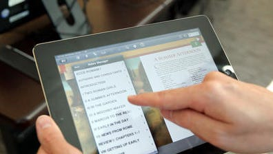 Last year, Archbishop Stepinac High School in White Plains became one of  the first high schools in the nation to drop textbooks. Students will use tablets.