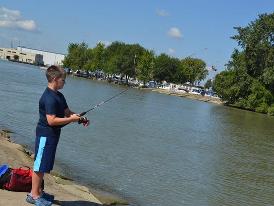 Griffin Nelson often fishes with his family on the