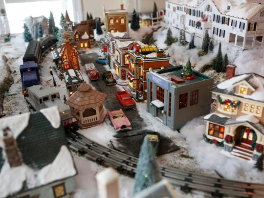 People enjoy the 1st Annual Polar Express Holiday Train Show at Lasdon Park, Arboretum and Veterans Memorial in Somers on Dec. 15, 2013.