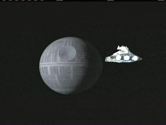 That sphere? That's the Death Star, pictured here in