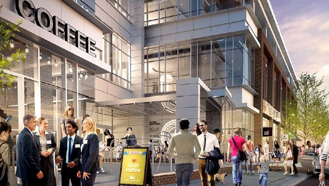 A rendering of the ground-floor retail space at Capitol View